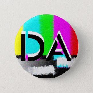 Botón estático blanco y negro de DA