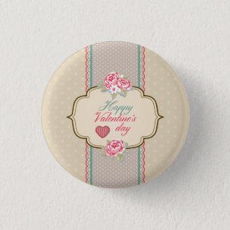 Botón feliz clásico del Pin del el día de San