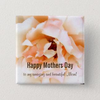 Botón feliz color de rosa del día de madres