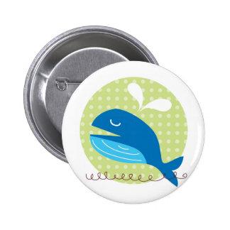 Botón feliz de la ballena