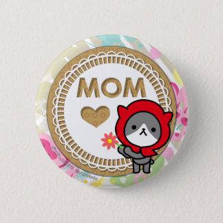 Botón feliz del día de madre - gatito