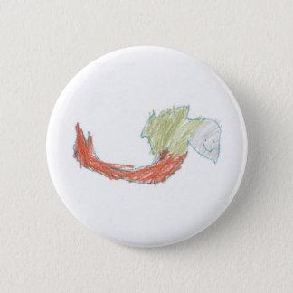 Botón feliz del Doodle de la sirena