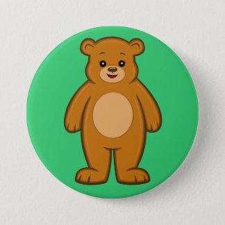 Botón feliz del oso del dibujo animado