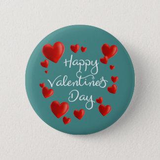 Botón feliz del Pin del el día de San Valentín de
