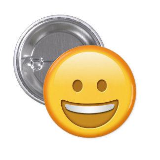 Botón feliz divertido del smiley del emoji