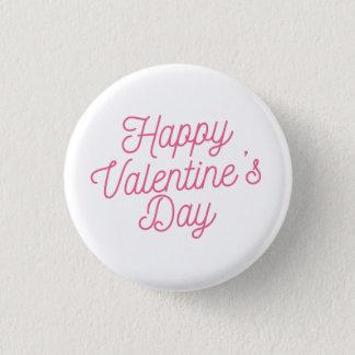Botón feliz rosado del Pin del el día de San