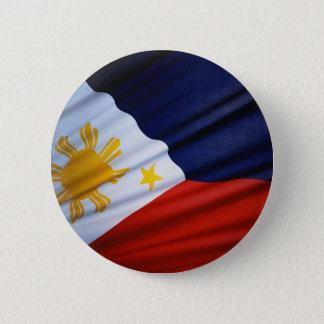 Botón filipino de la bandera que agita