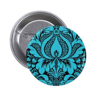 Botón floral de la fantasía azul