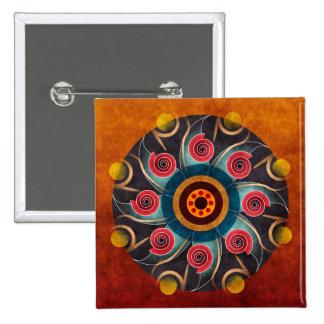 Botón floral del arte del vector del extracto del