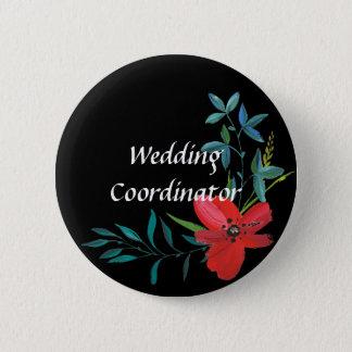 Botón floral del coordinador del boda