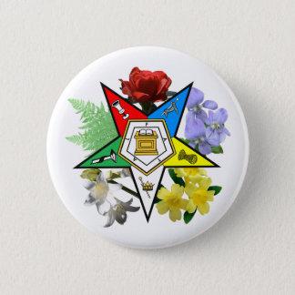 Botón floral del emblema de OES