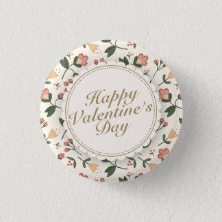 Botón floral del marco del el día de San Valentín