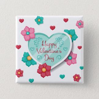 Botón floral del Pin del el día de San Valentín