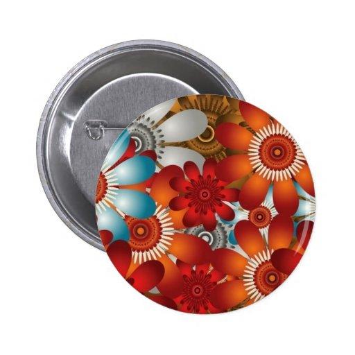 Botón floral del vector lindo pins