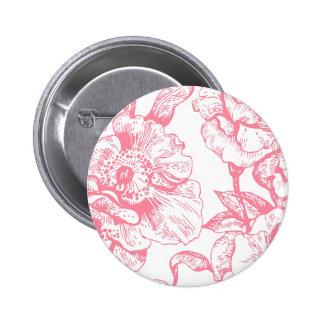 Botón floral del vintage rosado