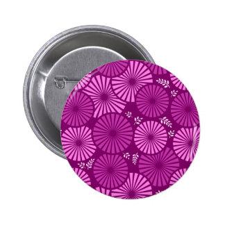 Botón floral retro hermoso, violeta