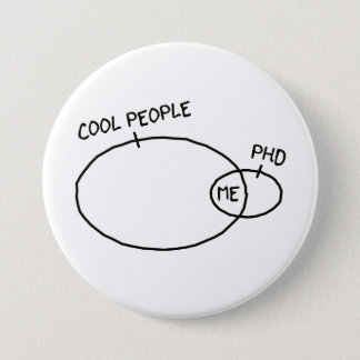 Botón fresco del PhD