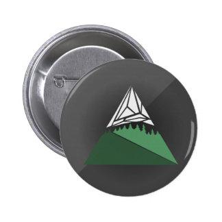 Botón geométrico del arte de la montaña