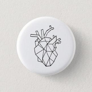 Botón geométrico del corazón