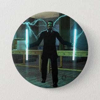 Botón grande de la fuerza de Tesla