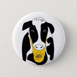 Botón grande divertido de Boss de la vaca del