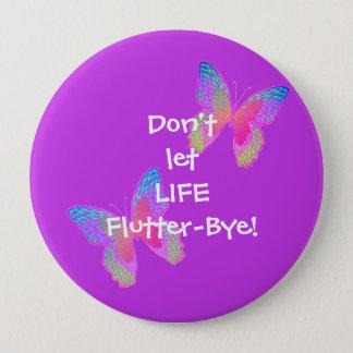 Botón grande (violeta) del Alboroto-Byes