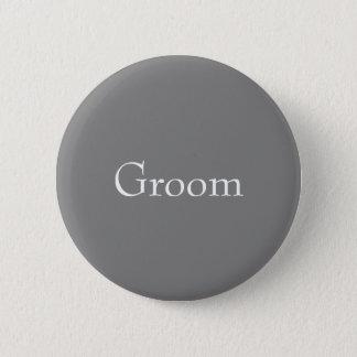 Botón gris del novio