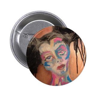 Botón grotesco extraño del retrato