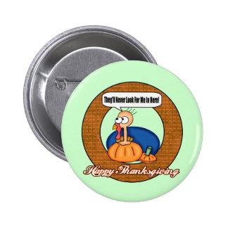 Botón - guarida de Turquía de la acción de gracias