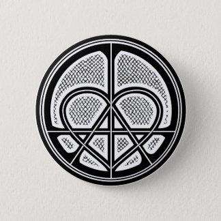 Botón humanitario del símbolo de la ANARQUÍA del