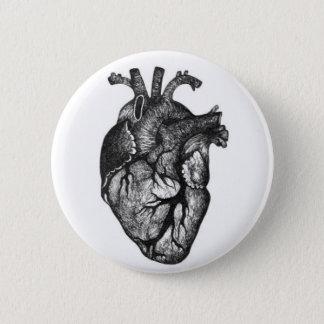 Botón humano del dibujo del corazón