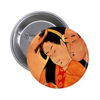 Botón/insignia japoneses de los pares chapa redonda de 5 cm