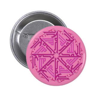 Botón islámico rosado de la decoración