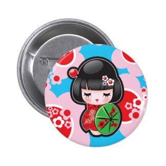 Botón japonés de la muñeca de Kawaii Pins