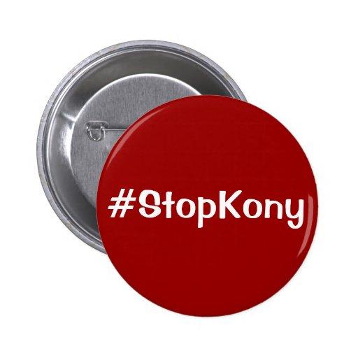 Botón kony de la parada de Kony 2012 Pins
