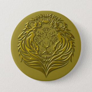 Botón leonino de bronce del retrato