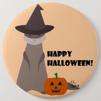 Botón lindo de Halloween del hurón