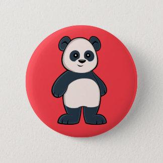 Botón lindo de la panda del dibujo animado