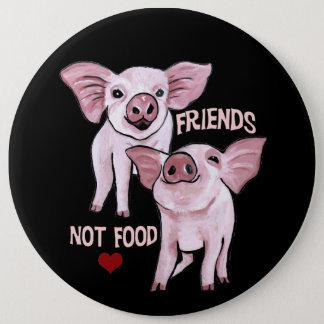 Botón lindo de los cerdos de la comida de los