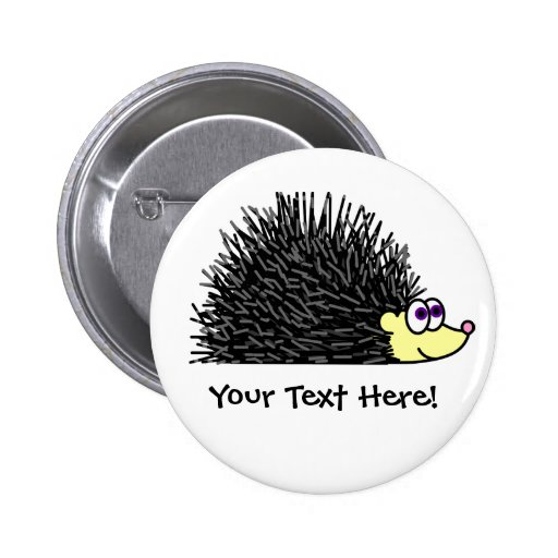 ¡Botón lindo del erizo - personalizable! Pins