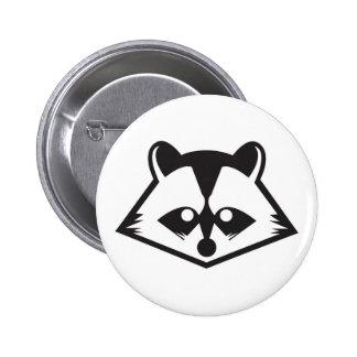 Botón lindo del mapache pins