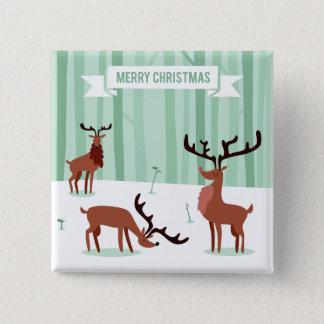 Botón lindo del navidad de los renos