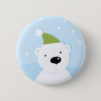 Botón lindo dibujado mano con el oso
