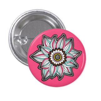 Botón moderno de la flor de la dicha pin