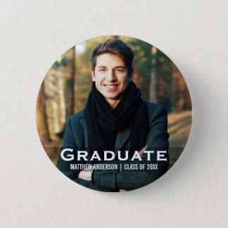 Botón moderno de la foto de la graduación