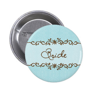 Botón moderno de la novia de la elegancia