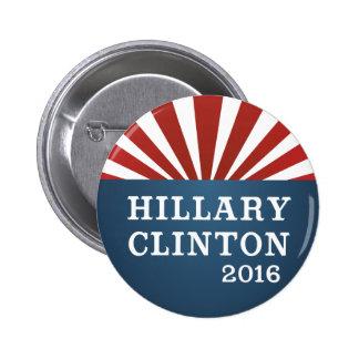 Botón moderno del diseño de la redada de Hillary