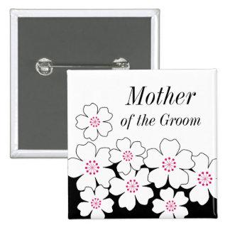 Botón moderno del ensayo de la flor de cerezo