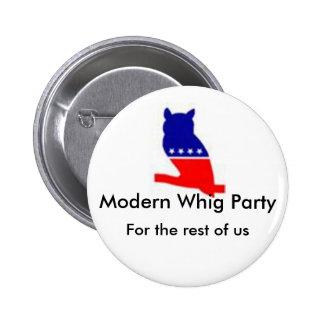 Botón moderno del fiesta de Whig Pin