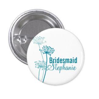 Botón moderno del perno del boda de la dama de